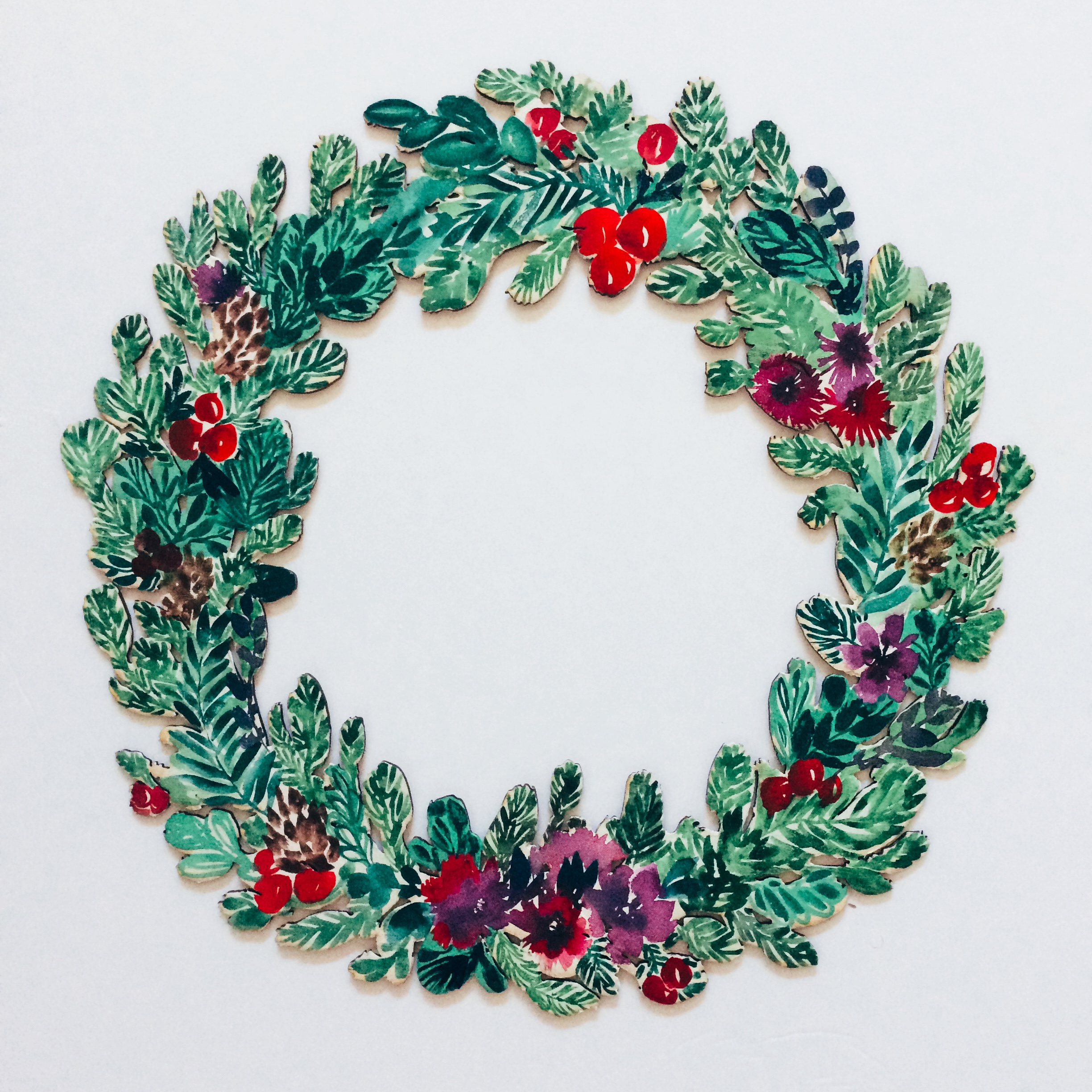 Holiday Watercolor Wreaths with Pink Puddle Studio - The Farm at ...